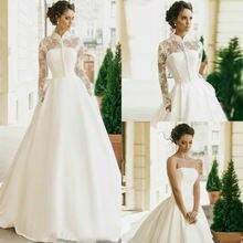 Скромные Длинные рукава Свадебное платье 2020 для женщин с высоким