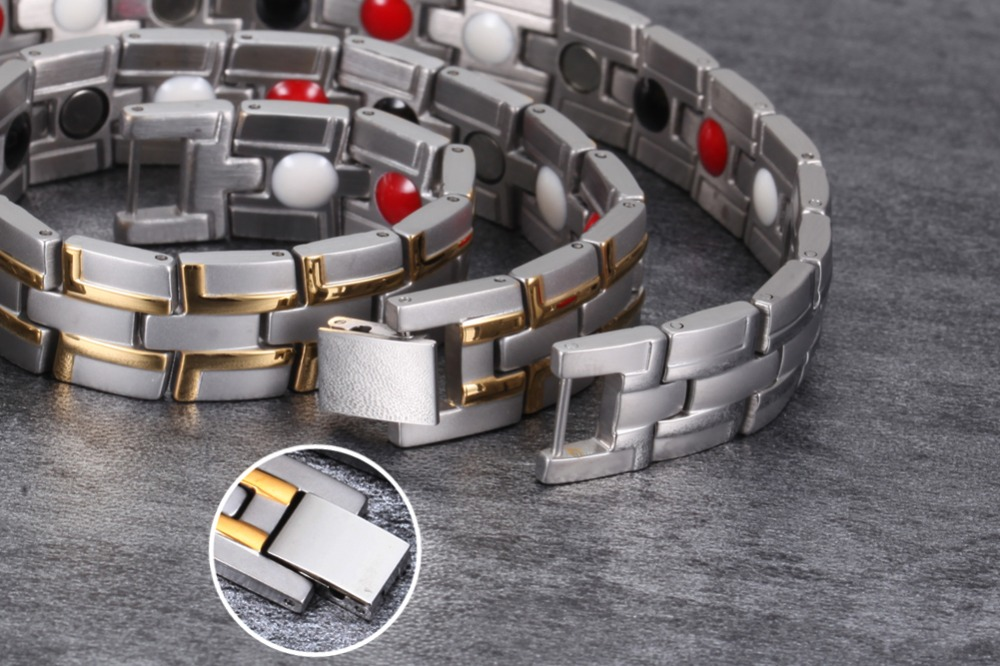 H666045519e8244aeb4501c05e0440f77j - Health Magnetic Bracelet Male Stainless Steel Wrist Band Magnetic Bracelet Men Hand Chain Energy Bracelets for Men