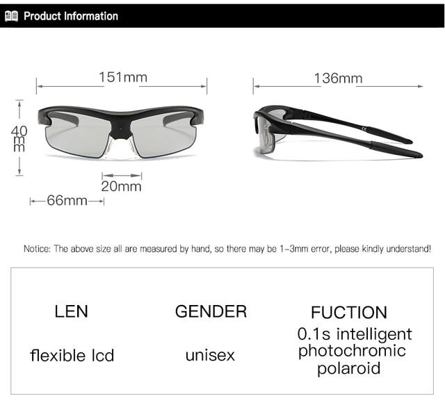 Polarized Photochromic Auto Adjustable Dimming Sunglasses  6