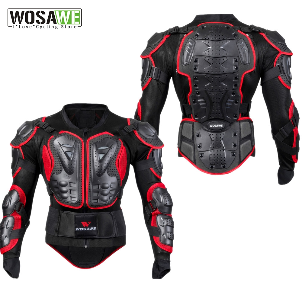 Snowboard Jacket Men Full Body Armor Jacket Motocross Racing Protective Gear Back Chest Shoullder Elbow Protection