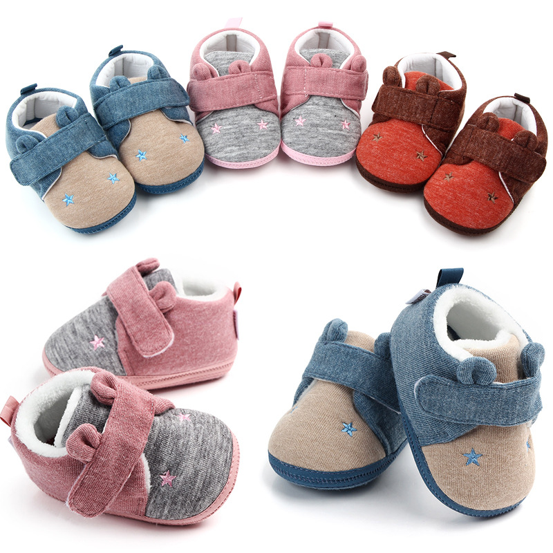Newborn Infant Cute Baby Shoes Boy Girl Comfort First Walkers Cotton Sofe Sole Princess Crib Shose Casual Moccasins