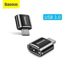 Baseus usb c adaptador otg tipo c para usb 3.0 adaptador 3 tipo-c cabo adaptador para macbook pro ar samsung s20 s10 usb otg