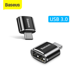 Baseus USB C Adapter OTG Type C to USB 3.0 Adapter 3 Type-C Adapter Cable For Macbook pro Air Samsung S20 S10 USB OTG