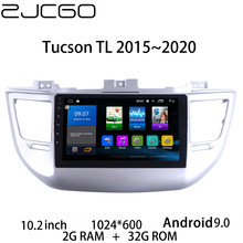 Auto Multimedia-Player Stereo GPS DVD Radio Navigation Android Bildschirm für Tucson TL 2015 ~ 2020(China)
