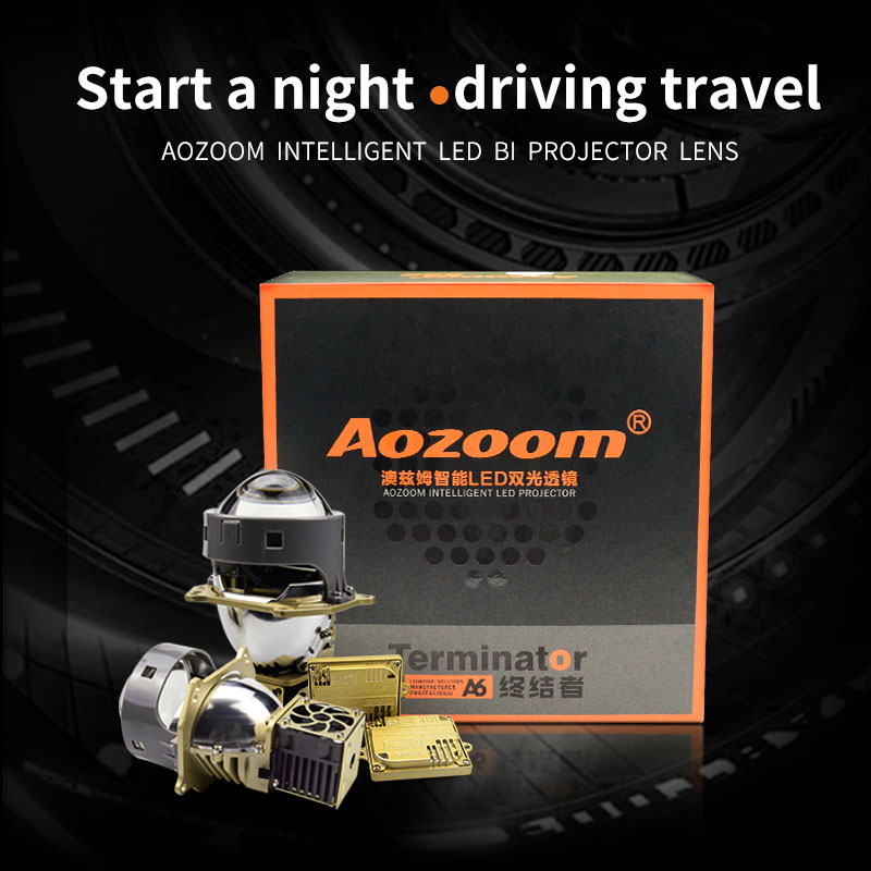 2019 Aozoom New Arrival  Super Brightness A6 LED Projector Lens