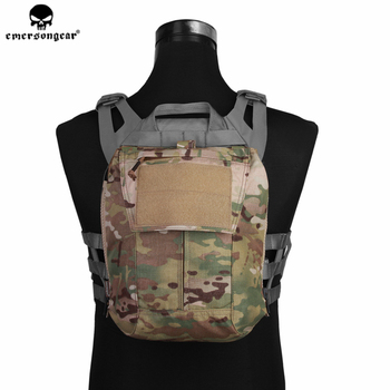 цена на Emerson Tactical Pouch Zip-ON Panel Plate Carrier Pouch Backpack Bag AVS JPC 2.0 CPC Tactical Vest Backpack Bag Pouch