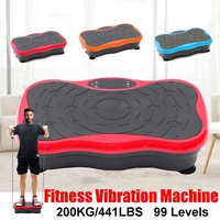 200KG/441LBS 500W Vibration Machine 99 gear button Exercise Platform Massager Body Fitness Remote exercise fitness equipment