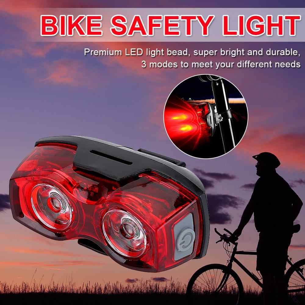 2LED bright cycling bicycle bike safety rear tail flashing back light lamp BE