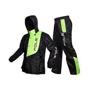 Image 1 - אופנה מעיל גשם גברים עמיד למים מעיל גשם חליפת אופנוע גשם מעיל פונצ ו גדול גודל גשם מעיל חיצוני ספורט חליפת מעיל