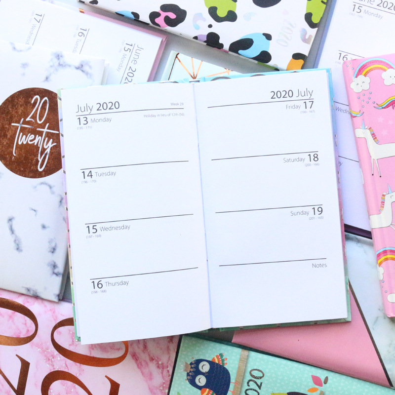 Domikee 2020 year calendar agenda planner organzier school student cute hardcover pocket weekly planner notebook stationery gift