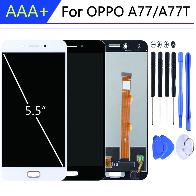 For Pantalla OPPO A77 display in Mobile Phone LCDs with Frame a77t Touch Screen Digitizer Assembly Parts <font><b>10</b></font> táctil <font><b>piezas</b></font> image