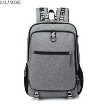 School Bags for Teenage Boys Chain USB Backpack Waterproof Nylon Laptop Mochila Escolar Bags Casual Anti Theft Backpack.