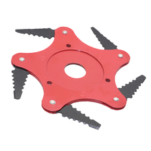 5 Leaves Lawn Saw Blade Metal Garden Mowing Accessories Home Grass Trimmer Head Farm Easy Install Universal Replacement Tool
