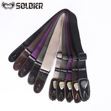 Top Quality Soldier Electric Acoustic Bass Guitar Strap Cotton Black Green Blue Musical Instruments Accessories