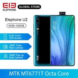 ELEPHONE U2 смартфон с восьмиядерным процессором Helio P70, ОЗУ 64 ГБ, ПЗУ 128 ГБ, 16 МП, 6,26 дюймFHD +, Android 9,0