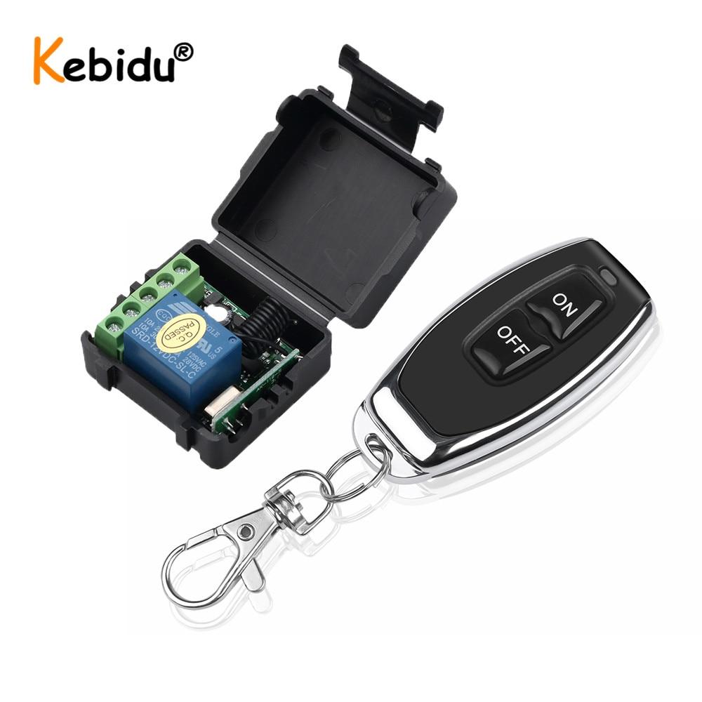 Радиочастотный передатчик Kebidu, беспроводной пульт дистанционного управления, переключатель постоянного тока 12 В, 1-канальный релейный моду...