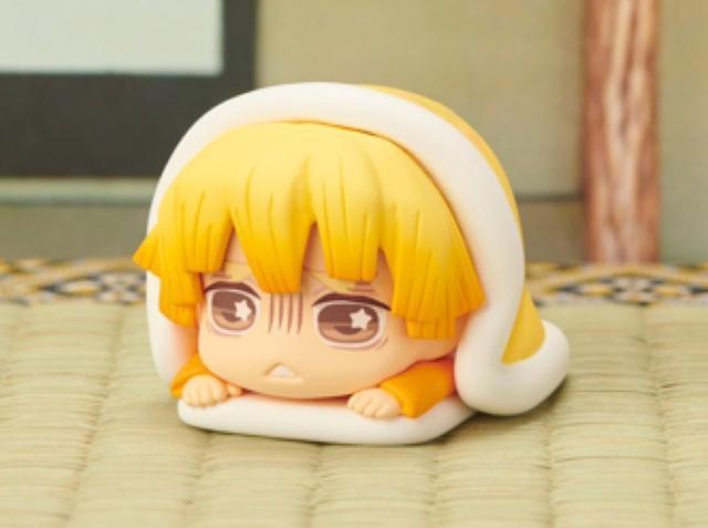 Demon Slayer Kimetsu no Yaiba Capsule Nezuko Tanjirou Zenitsu Inosuke Sleeping Action Figures Demon Slayer Anime Figure Toy 30mm