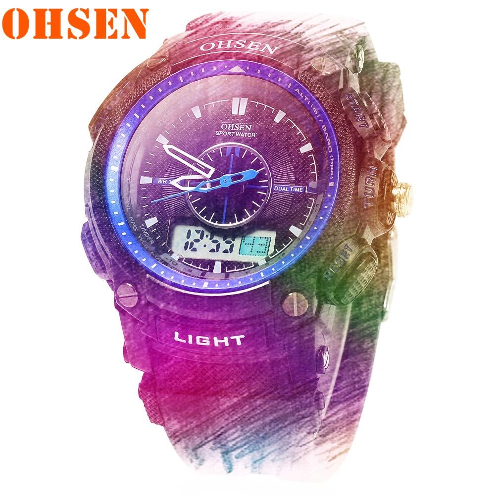 Men's Watches OHSEN Military Clock Sports Top-Brand Waterproof Luxury Quartz Relogio Masculino