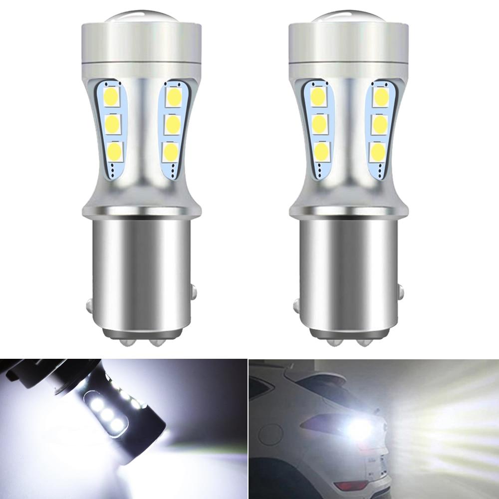 2 шт., светодиодные лампы 1157 BAY15D 1156 BA15S P21W T20 7443 W21W W21/5 W T15 W16W 3030smd
