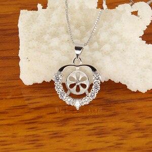 Image 1 - Serce HOT moda popularne w stylu europejskim perły wisiorek mocowania, ustalenia wisiorek, ustawienia wisiorek części biżuterii okucia