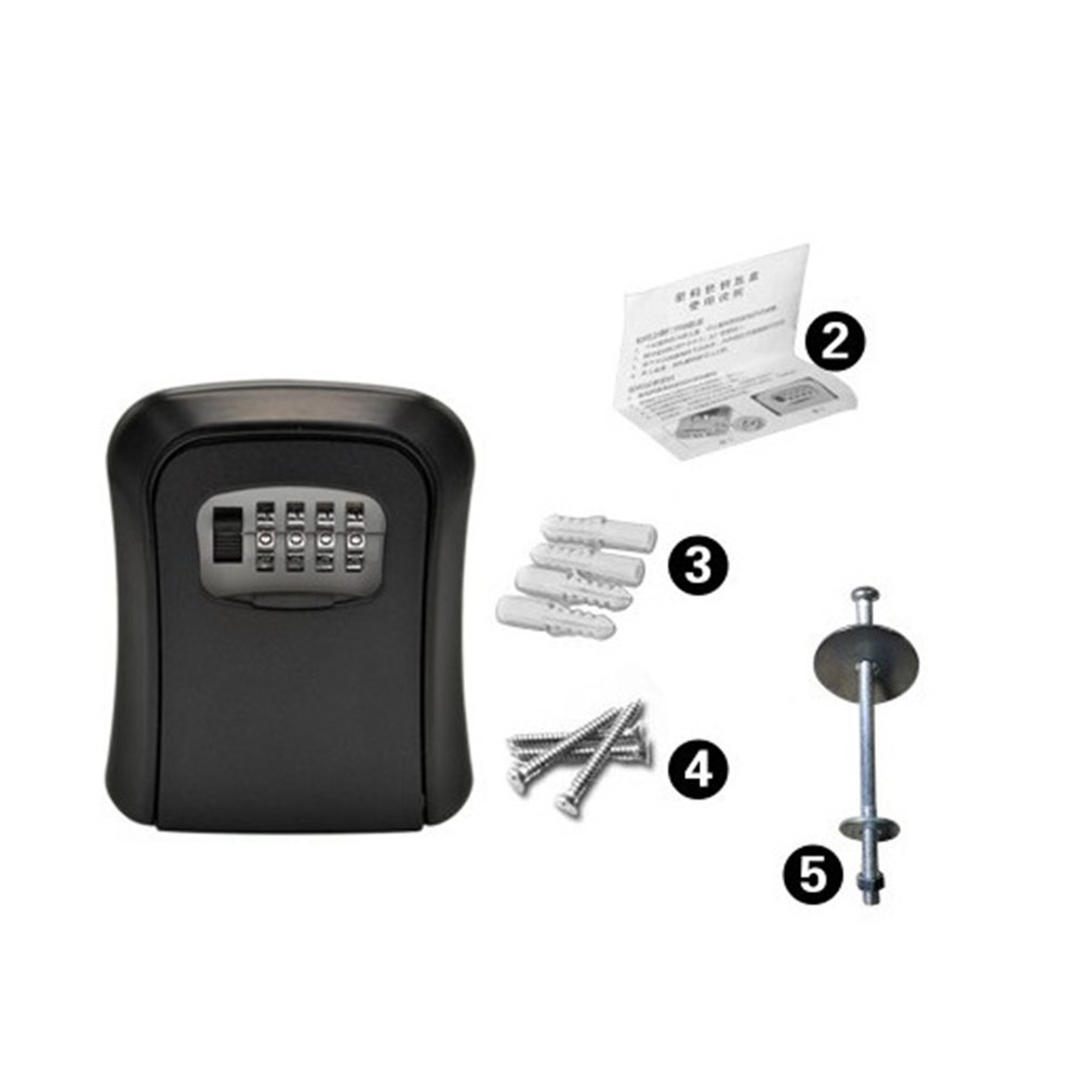 Key Repair Password Box Wall-Mounted Anti-Smashing Password Lock Key Box Anti-Theft Door Cat Eye Key Box