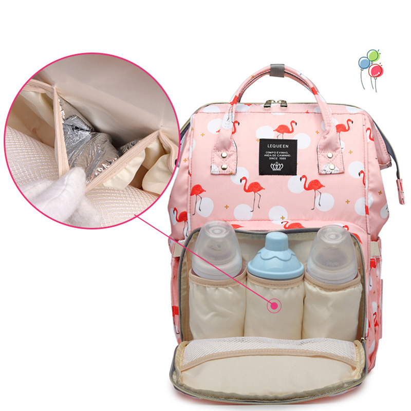 H666176d4b4314deab1cdfeff27c84d89P Diaper Bag Backpack For Moms Waterproof Large Capacity Stroller Diaper Organizer Unicorn Maternity Bags Nappy Changing Baby Bag