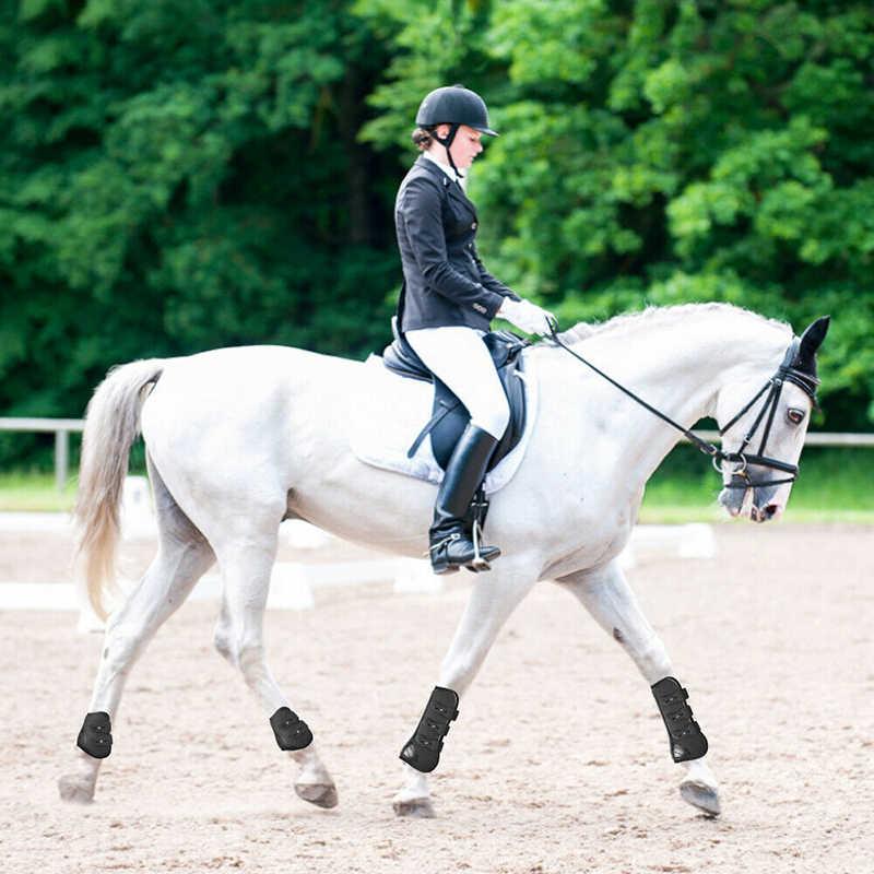 At bacak koruma çizme yumuşak elastik kayış at bacak koruma görevlisi pratik dayanıklı at binme at bacak koruma çizme