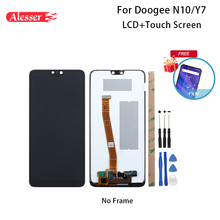 Alesser עבור Doogee N10 LCD תצוגת מסך מגע 5.84 הרכבה תיקון חלקי עם כלים ודבקים עבור Doogee y7 טלפון
