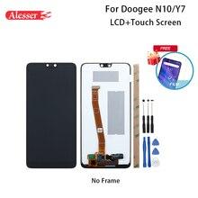 Doogee N10 LCD 디스플레이 및 터치 스크린 용 Alesser Doogee Y7 전화 용 도구 및 접착제가있는 5.84 조립 수리 부품