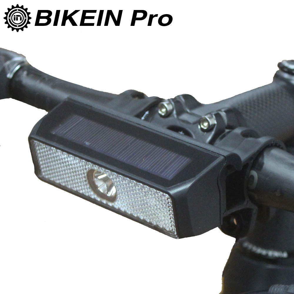 BIKEIN Pro Cycling Intelligent Switch light Road Solar Energy Bike LED HeadLight Mountain Bicycle Safety Alert MTB Lights 300mAh|Bicycle Light| |  - title=