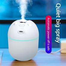 Przenośny nawilżacz powietrza dyfuzor domu sypialnia nawilżacz samochodowy generator pary USB Mist Maker z LED lampka nocna mały wentylator