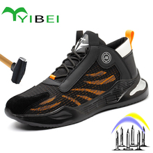 Work-Boots Safety-Shoes Steel-Toed Outdoor Indestructible Men's New Anti-Smash And Comfortable