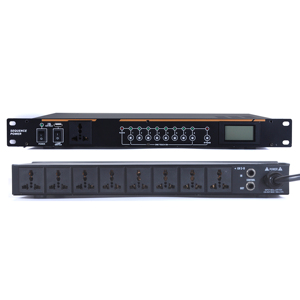 Leikozic q908 profissional 8 canais amplificador de potência sequenciador controlador para dj equipamento profissional sistema de som powersupply