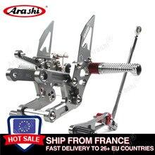 프랑스에서 배송 Arashi Rearset For YAMAHA YZF R6 2006 2016 CNC 조정 가능한 발 받침 다리 못 2006 2007 2008 2009 2010 YZF R6