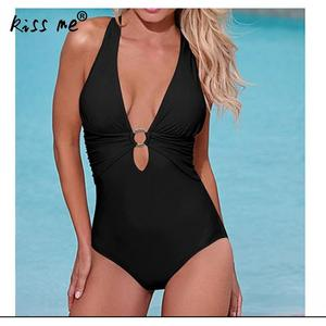 Сексуальный цельный купальный костюм для женщин, купальный костюм с глубоким v-образным вырезом, монокини, боди с открытой спиной, купальный...
