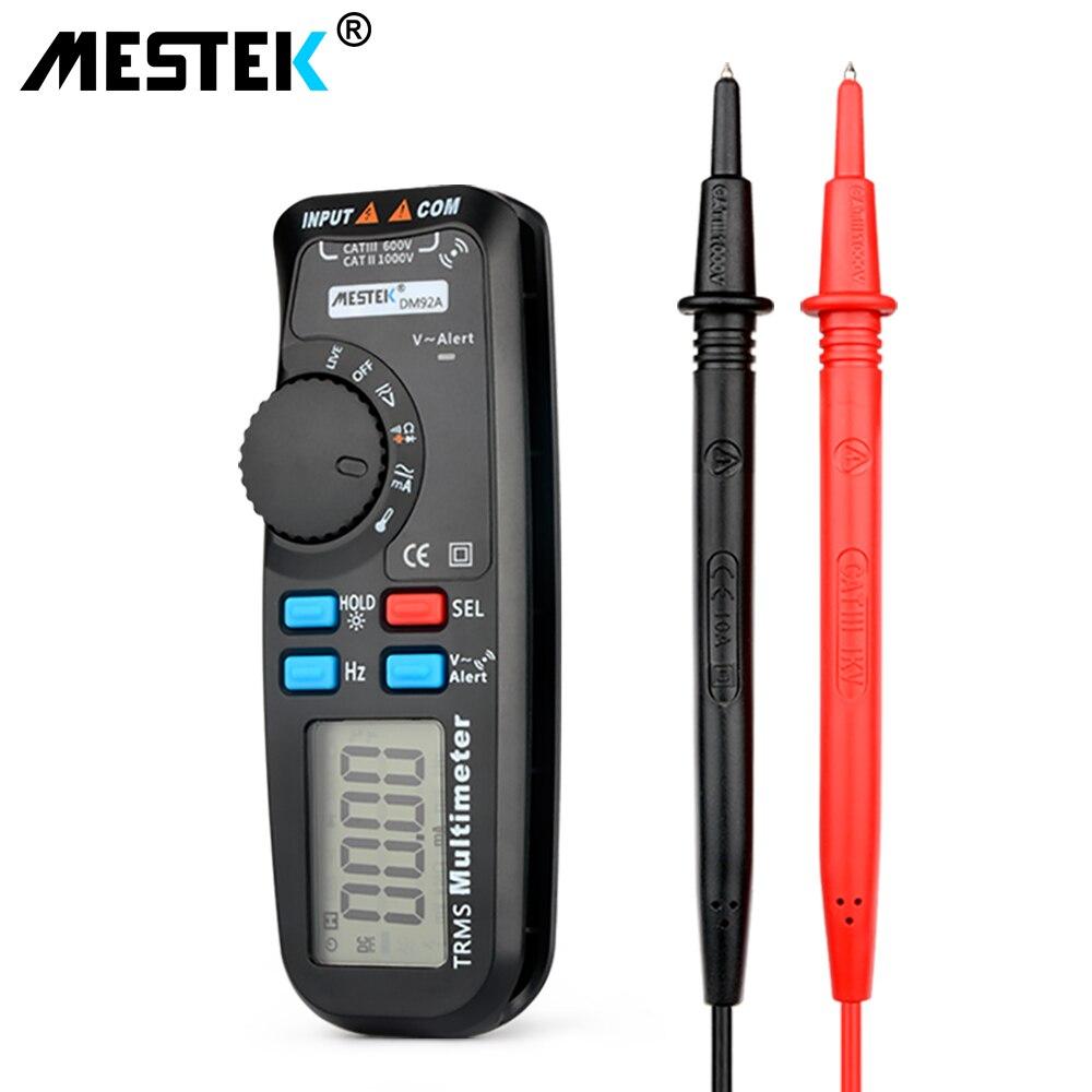 Многофункциональный цифровой мультиметр DM92A ЖК-дисплей Multimetro Авто Диапазон True RMS Temp тестер емкостный Вольтметр Амперметр