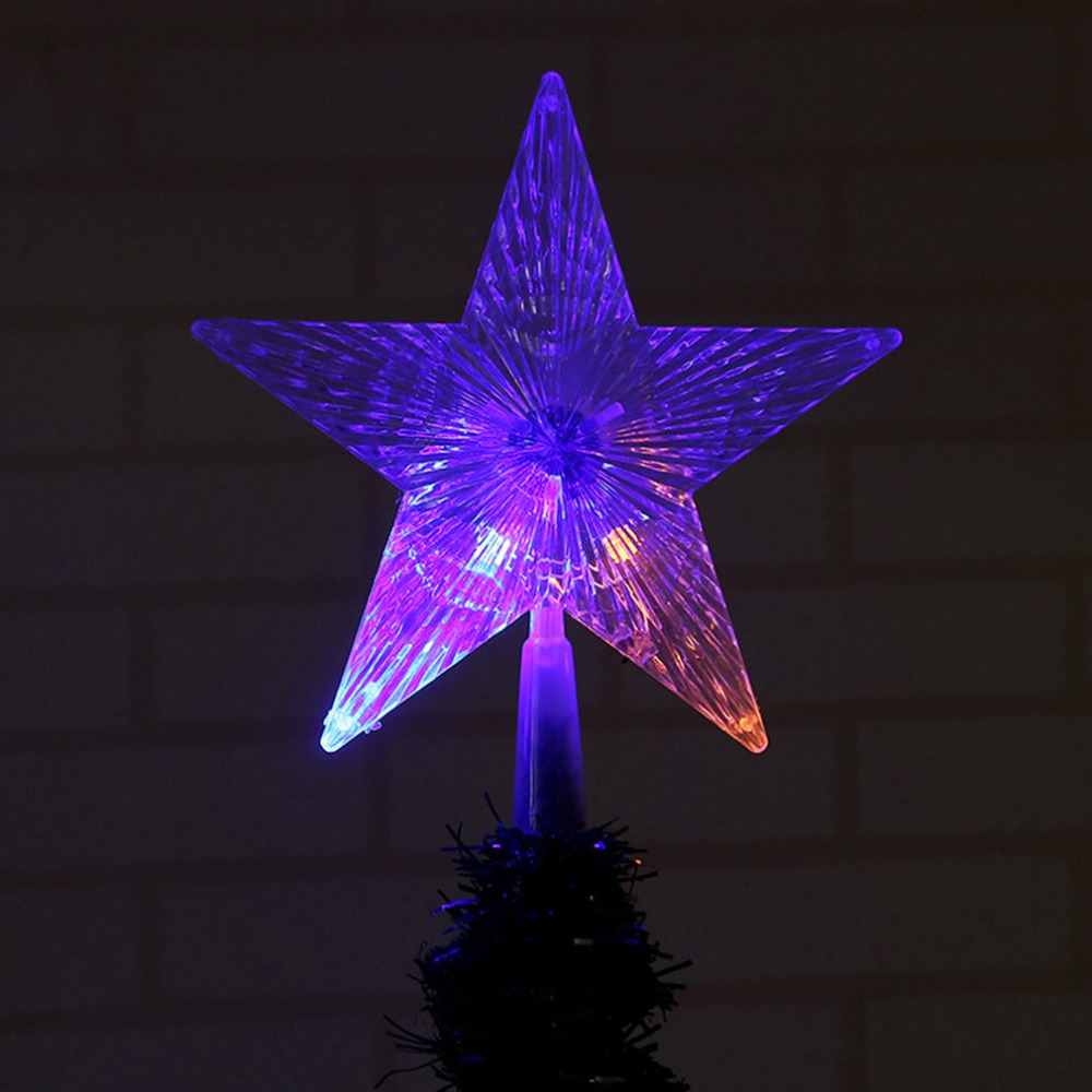 Transparent Pentagram-shaped Lamp Home Decor Christmas Tree Ornament Party Hanging Star Christmas Tree Decorations