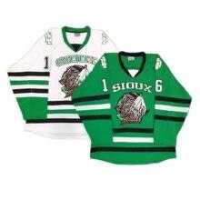North Dakota Fighting Sioux ice hockey Embroidery jersey street shirt #16 BOESER NCAA