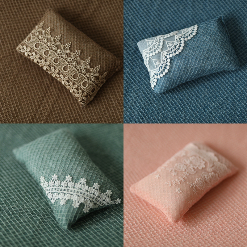 9 Colors Posing Beanbag For Newborn Photography Props Lace Pillows Flokati Basket Filling Accessories Baby Photo Shooting Studio