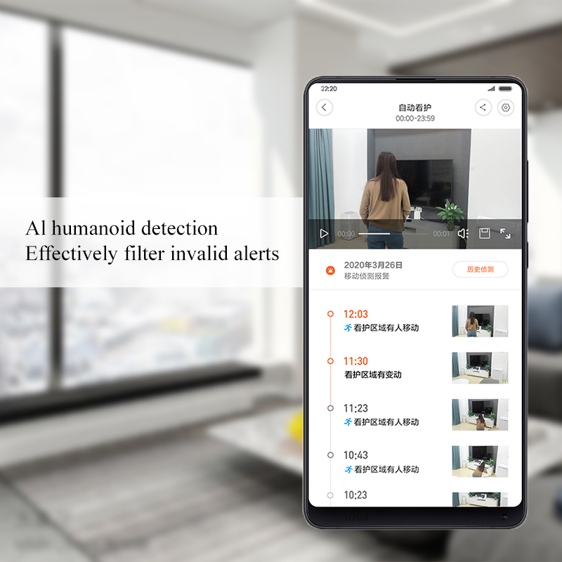 Top SaleΓXiaomi 3-Million-Pixels Monitor Smart-Camera Ip-Webcam Video Ptz-Version Ultra-Wifi 1296P