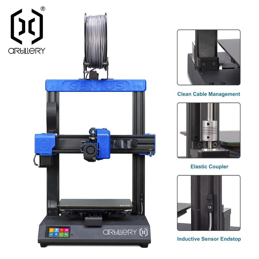 2019 Artileri 3d-printer Jenius 220X220X250mm Desktop Ukuran Tingkat Tinggi Precision Dual Sumbu Z Layar TFT