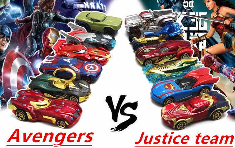 Disney Avengers Paduan Model Mobil Set 1:55 Pahlawan Marvel Iron Man Captain America Rental Hulk Mobil Hadiah Natal Baru 2019