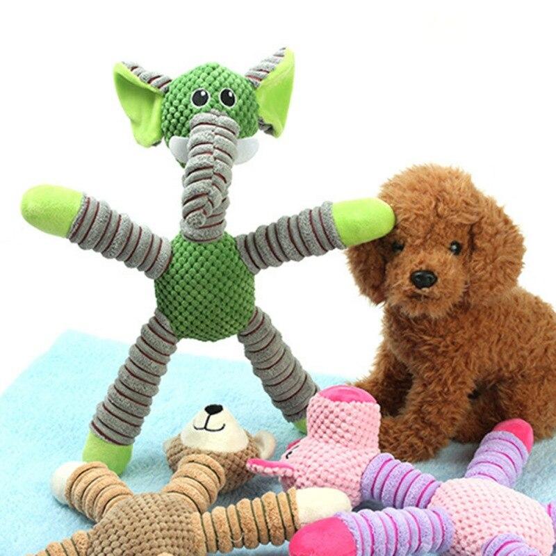 18 Цвета плюшевые игрушки писк питомца волка тапочки; Тапочки с кроликом; Шлёпанцы для плюшевые игрушки собака скрипучий со свистком, связан...