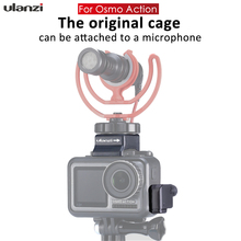 Ulanzi OA 8 Microphone Booster w Cold Shoe Mic Extension Cable Clamp Wire Holder for Original DJI OSMO Action Cage Accessories