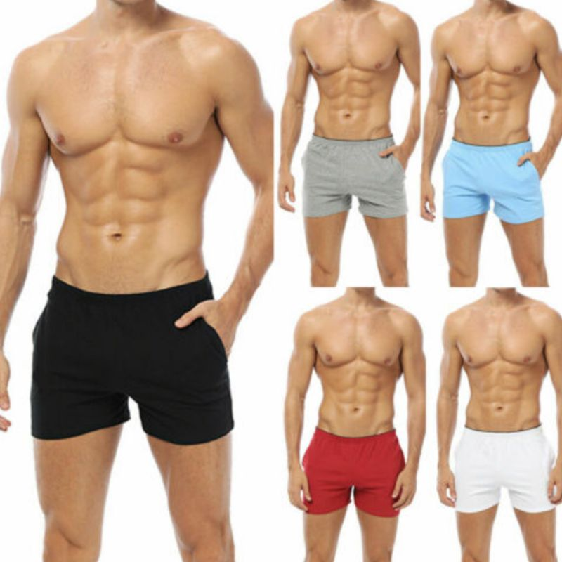 Fashion Breathable Casual Men's Shorts Male Summer Cotton Soft Gym Sports Running Sleep Shorts M-2XL 5 Colors