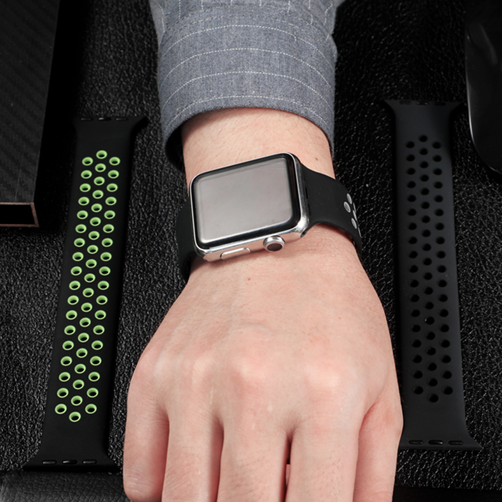 Solo Loop strap For Apple Watch Band 44mm 40mm 38mm 42mm Breathable silicone Elastic Belt bracelet band iWatch Series 3 4 5 SE 6 6