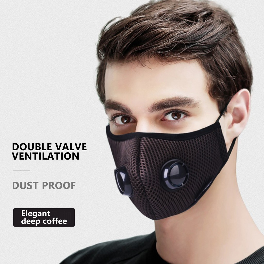 Reusable Anti-pollution Mask PM2.5 Filter Mouth Respirator Dust Masks Diving Fabric Mesh Unisex Mouth Muffle Face Mask Washable