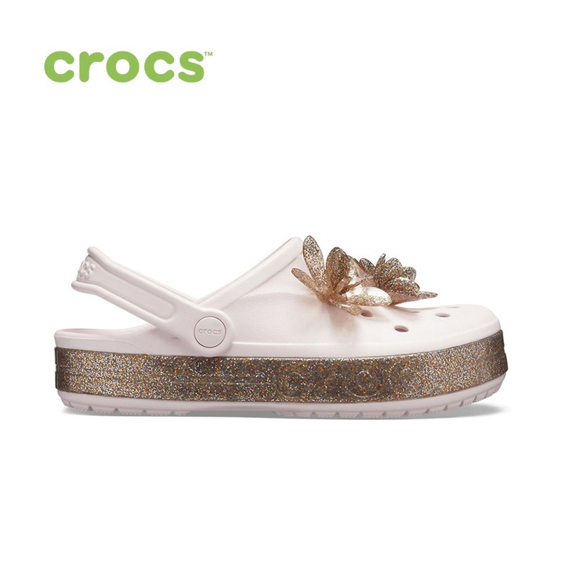 Фото - CROCS Bayaband Glitter Floral Clog UNISEX for male, for female, man, woman TmallFS shoes women high heel shoes platform pumps woman thin high heels party wedding shoes ladies kitten heels plus size 34 40 41 42 43