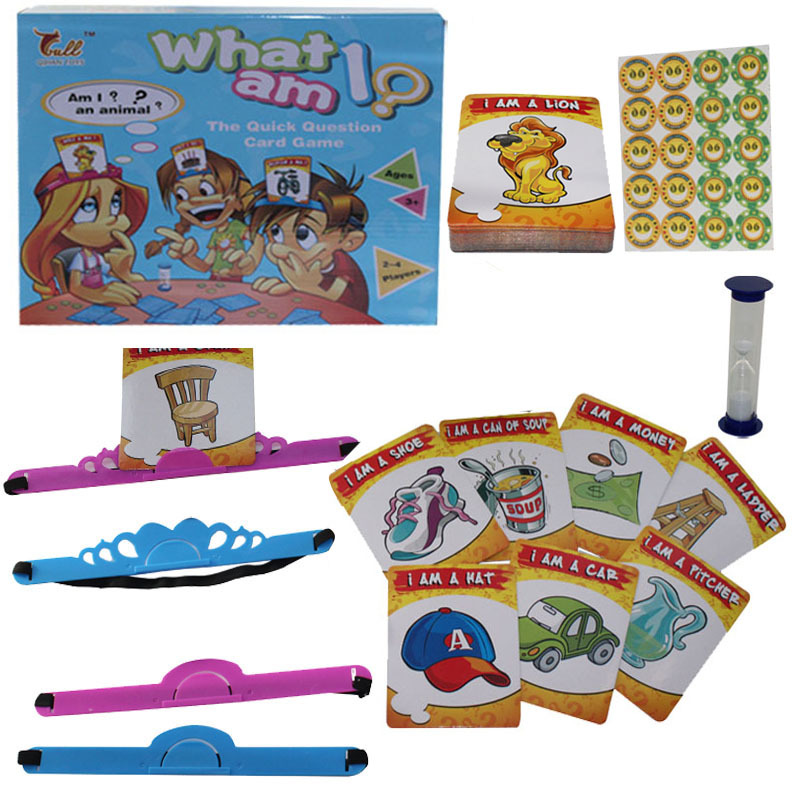 Kids Funny Toys The Quick Question of What am I Cards Board Game Funny Gadgets Novelty Toys For Children (8)
