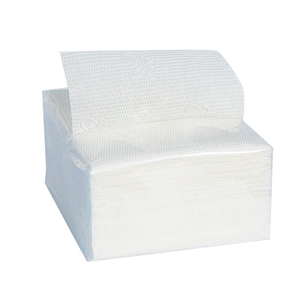New 5 Packs Single Layer Disposable Wood Pulp Soft Napkin Paper Towel Toilet Tissues Paper Tissue